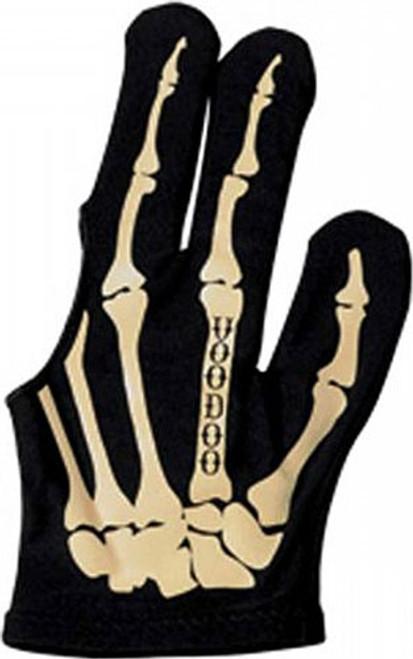 Voodoo Billiard Gloves - Skeleton - Black/Bone