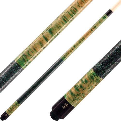 McDermott Cues Double Wash Green and Natural Walnut