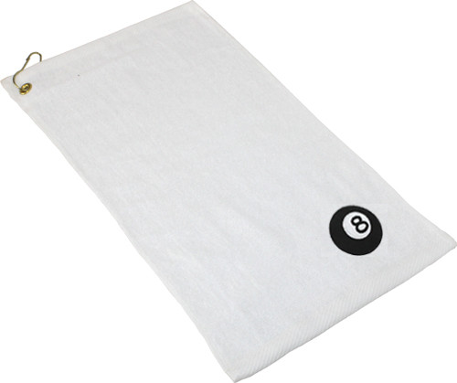Ozone Billiards 8 Ball Towel - White - Free Personalization