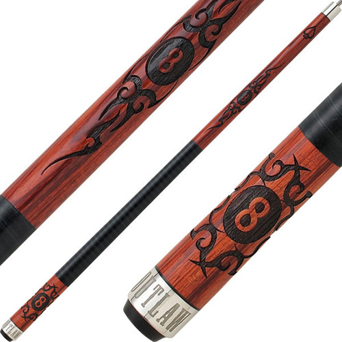 Outlaw Cues - Cherry Eight Ball Scroll