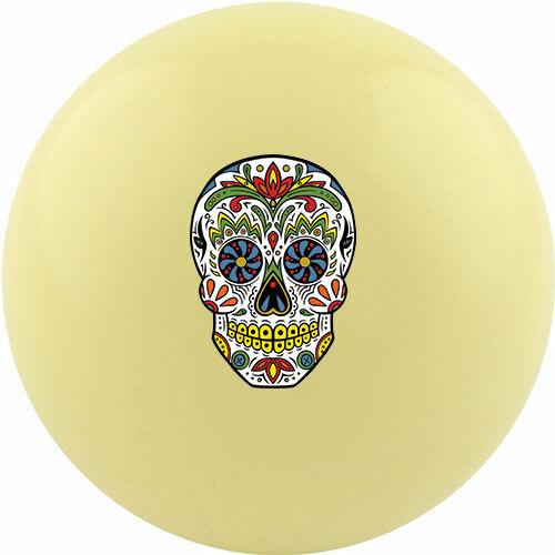 Custom Cue Ball - Candy Skull
