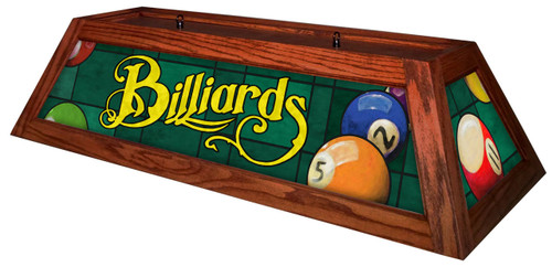 Classic Green Billiards Pool Table Light Cherry Stain