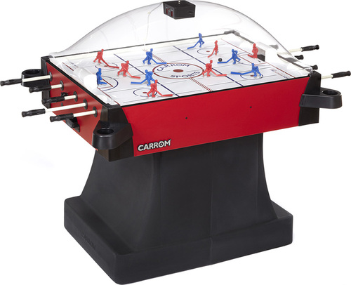Carrom Stick Hockey Table with Pedestal - Signature Red