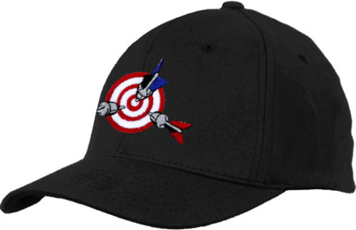 Ozone Billiards Bullseye Hat - Black - Free Personalization
