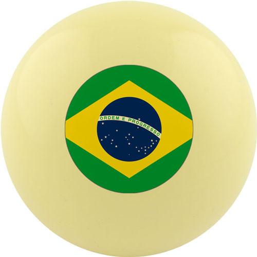 Custom Cue Ball - Brazil Flag
