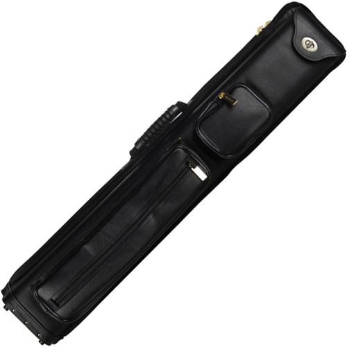 Ozone Premium Cue Case - 3 Butt / 5 Shaft - Black Leatherette