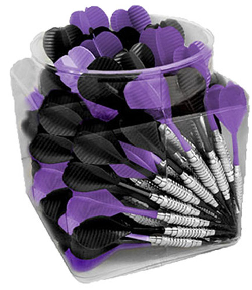 Jug O Soft Black and Purple Soft Tip Bar Darts - 100 Pieces