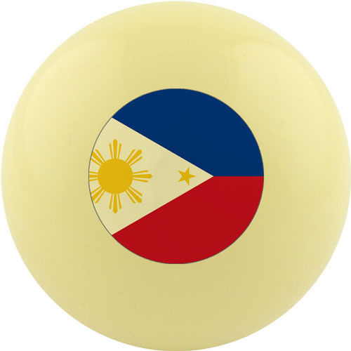 Custom Cue Ball - Philippines Flag