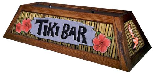 Tiki Bar Pool Table Light Mahogany Stain