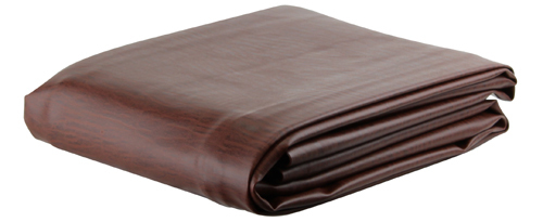 Ozone Brown Leatherette Pool Table Cover - 7 Foot