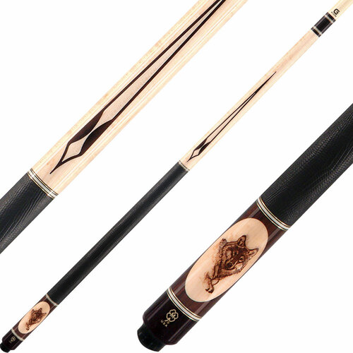 McDermott Cues Wildfire Deluxe Wolf Head