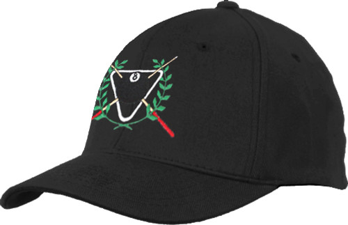 Ozone Billiards Ivy League Hat - Black - Free Personalization