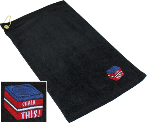 Ozone Billiards Chalk This Towel - Black - Free Personalization