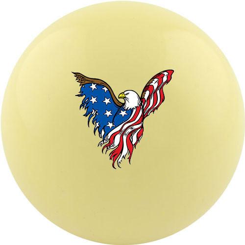 Custom Cue Ball - Eagle Flag