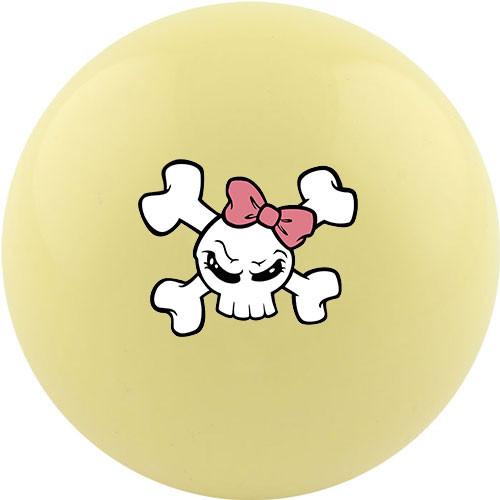 Custom Cue Ball - Girly Skull