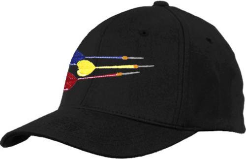 Ozone Billiards Three Darts Hat - Black - Free Personalization