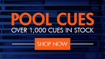 over 1000 cues in stock