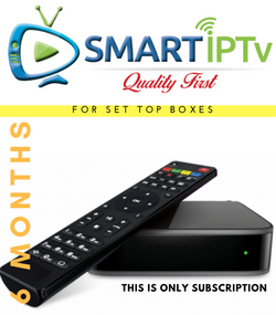 SMARTIPTV  For MAG (6 Months Subscription)