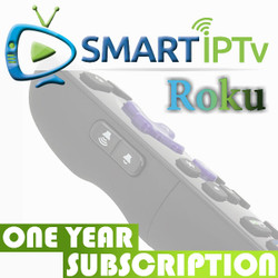 SMARTIPTV  For Roku (1 Year Subscription)