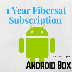 1 Year Fibersat Subscription  + Android Box TV T95N