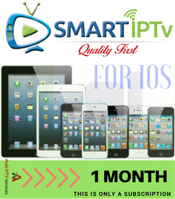 SMARTIPTV  For IOS iPhone and IPAD  (1 Months Subscription)