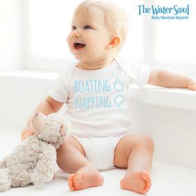 Baby Boating Napping Bodysuit - Boy