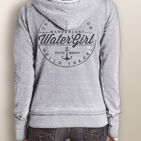 Women's Full-Zip Hooded Fleece - WaterGirl Wanderlust