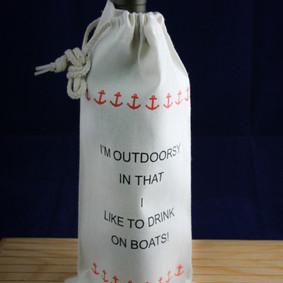 Outdoorsy Single Bottle Wine Bag
