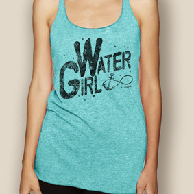 Boating Tank Top - WaterGirl Infinity Lightweight Racerback