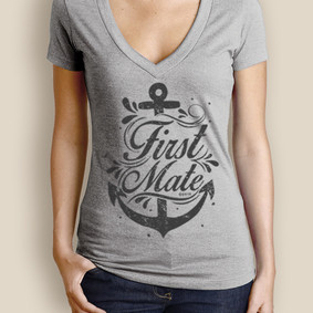Women's Boating T-Shirt - WaterGirl First Mate Deep V