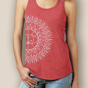 Boating Tank Top- WaterGirl Bohemia Sun Signature Tri-Blend Racerback (More Color Choices)