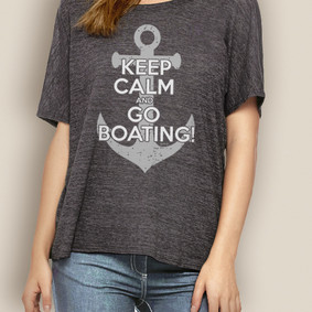 Women's Boating Relaxed Tee- WaterGirl Keep Calm