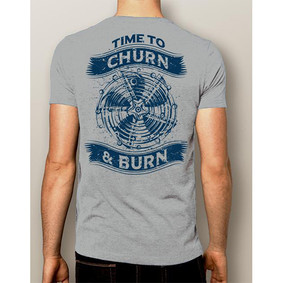 MEN'S BOATING T-SHIRT - NAUTIGUY CHURN & BURN
