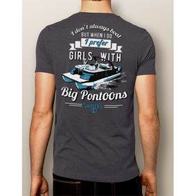 Men's Boating T-Shirt- NautiGuy Big Pontoons