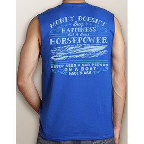 Men's Boating Sleeveless T-Shirt- NautiGuy Happiness