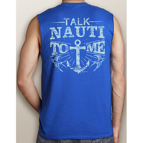Men's Boating Sleeveless T-Shirt- NautiGuy Talk Nauti