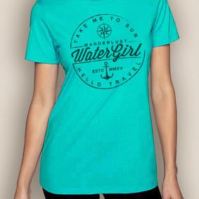 Women's Boating T-Shirt- Wanderlust Crew Neck