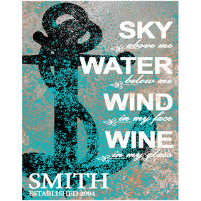 Custom Sky, Wind, Water Metal Sign