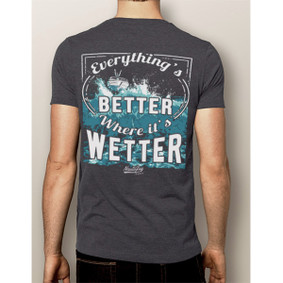 Men's Boating T-Shirt- NautiGuy Better When Wetter