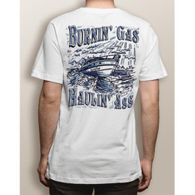 Men's Boating T-Shirt - NautiGuy Haulin & Burnin