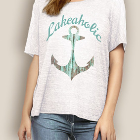 WaterGirl Boating Relaxed Tee-Lakeaholic