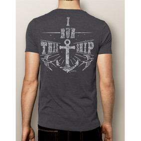 Men's Boating T-Shirt- I Run This Ship (More Color Choices)
