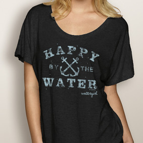 WaterGirl Boating Dolman -Happy By the Water ( More Color Choices)
