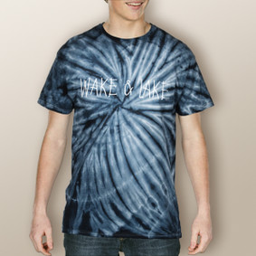 Guy's Wake & Lake Simple Tie Dye Tee