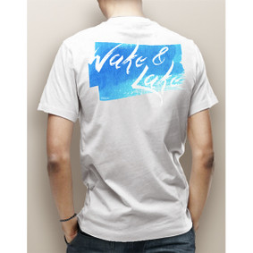 Guy's Wake & Lake Watercolor Pocket Tee