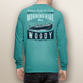 Men's Boating Long Sleeve with Pocket  - Morning Woody  (More Color Choices)