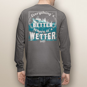 Men's Boating Long Sleeve with Pocket  - Better Wetter  (More Color Choices)