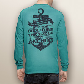 Men's Boating Long Sleeve with Pocket  - Big Anchor  (More Color Choices)