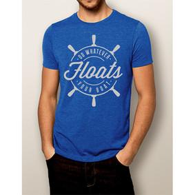 Men's Boating T-shirt - NautiGuy Floats Your Boat Royal Blue