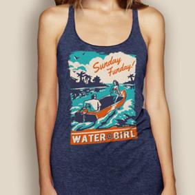 WaterGirl Sunday Funday Lightweight Racerback